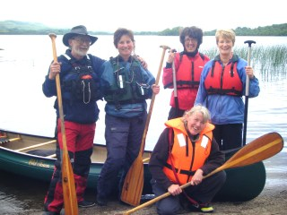 Big Day Out Team, (from left) Graham and Adrienne, Adventure Gently, Nuala with Tina in front, Leitrim Landscapes and Eileen, Electric Bike Trails.