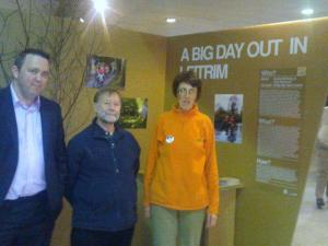 JJ O Hara, Castle View B&B Dromahair, John Lowe, Leitrim Enterprise Board and Nuala at the recent Dublin Launch of BIG DAYS OUT IN LEITRIM