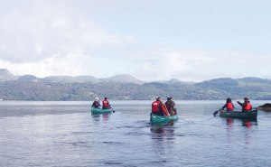 Adventure Gently canoeing Lough Gill